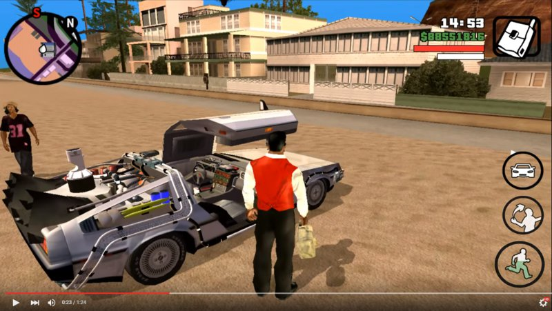 Gta San Andreas Back To The Future Mod Pack For Android V1 0 Mod Mobilegta Net