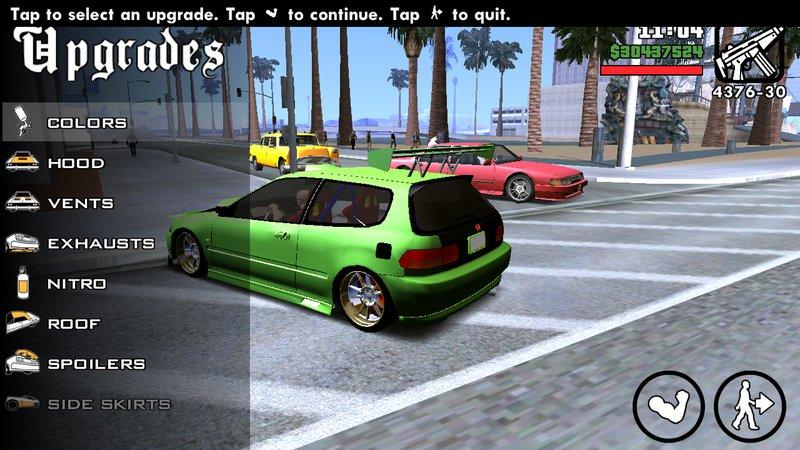 GTA San Andreas 1998 Honda Civic Hatchback For Android No
