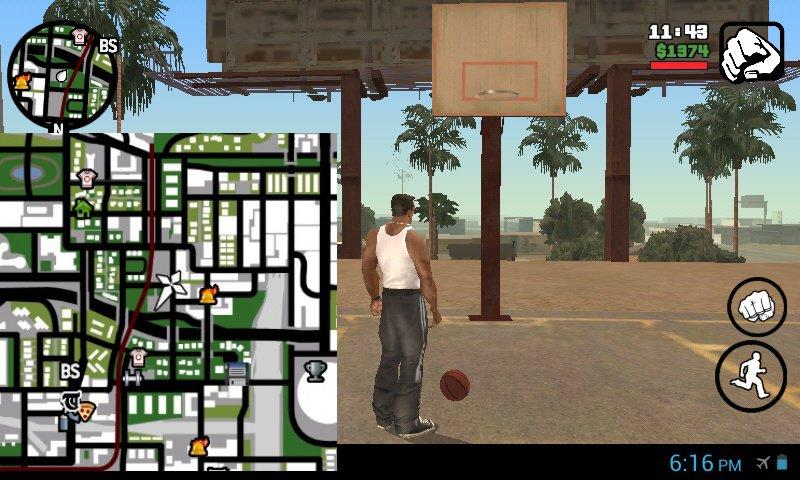 GTA San Andreas Basketball Help Savegame for Android Mod