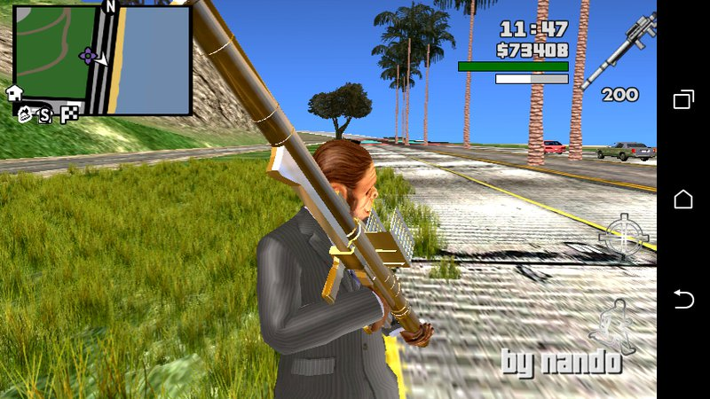 GTA San Andreas GTA V Homing Launcher v2 Only dff For Android Mod