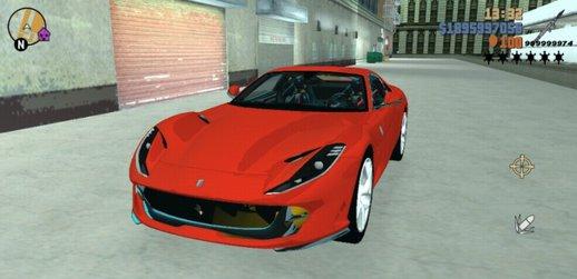 GTA 3 Ferrari 812 SF Mod - MobileGTA net