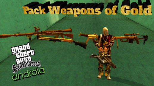 Pack Weapons of GOLD