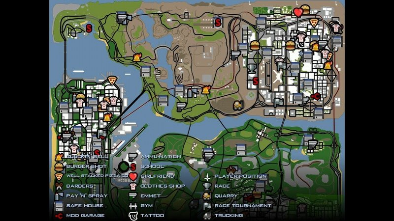 Gta San Andreas Full Map Unlock Savegame For Android Mod