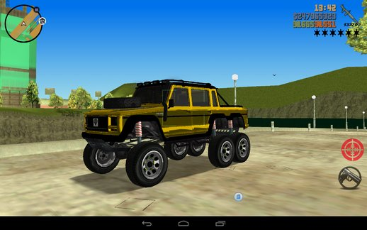 Mercedes 6x6 Truck For Mobile