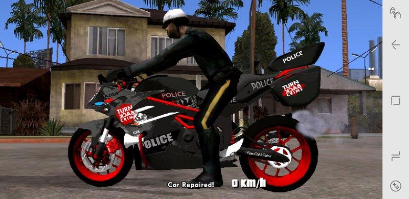 GTA San Andreas Bajidi R86 Cop Bike for Mobile Mod