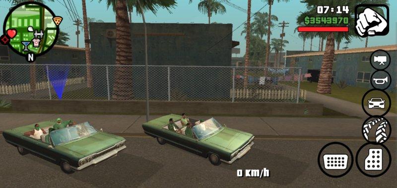 GTA San Andreas Grove SF Gang Ride for Android Mod - MobileGTA net