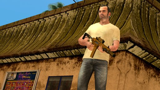 GTA V Carbine Rifle Yusuf Amir Luxury Finish for Mobile