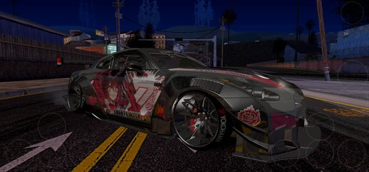 Ruby Rose [RWBY] Livery for Nissan GT-R LB Walk [Nb7 Project] for Mobile